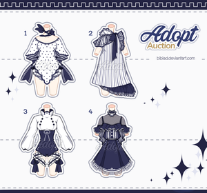 [Adopt Auction] Outfits #5 - CLOSE - by QuinnyIlada