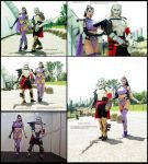 Umah and Kain (Blood Omen 2) at comic convention by Daelyth