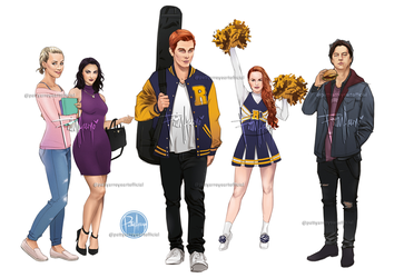 Riverdale Squad Archie Comics by Patty Arroyo Art by pattyarroyo