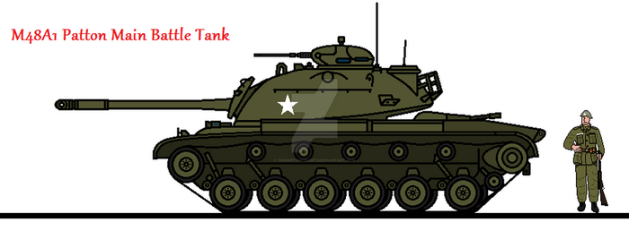 M48A1 Patton Main Battle Tank by thesketchydude13