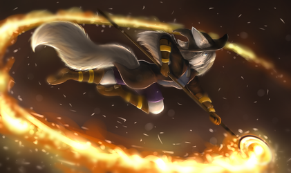 Fire Staff by Snakely-Alpha