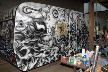 WOHNZILLA airbrush caravan project...IN PROGRESS by graynd