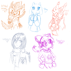 Stream Sketches 5 by Gaiamuth