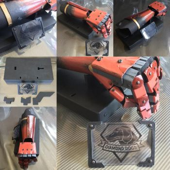 MetalGearSolidV cosplay arm and display stand v2 by archus7