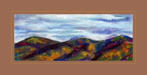 Drawing - Mountains by Ennete
