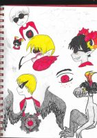 Dave Strider Doodles with a lone Gamzee by Silenthilllz