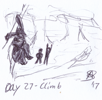 Inktober 2017 Day 27 - Climb by AnotherDemon