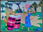 African Drums by FlapperFoxy