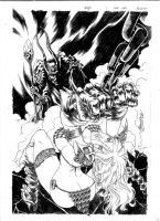 Red Sonja cover by DOCGOOSE