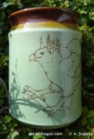 Leaping Gryphon Vase by tser