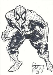 frank miller style SPIDERMAN  resize by zillaspawn