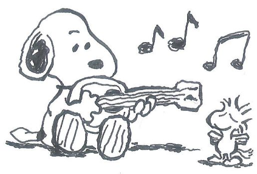 snoopy ukulele by ojneb12