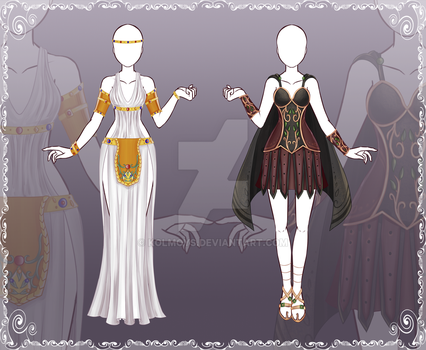 [Close] Adoptable Outfit Auction 43-44 by Kolmoys