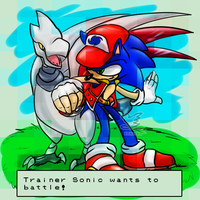 Trainer Sonic wants to battle! by Feniiku