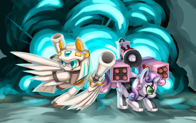 Robot Ponies by Utrale