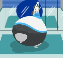 Wii Fit Trainer Heavy Bottom by The-Silver-Soldier