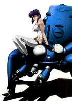 Motoko and Tachikoma by nathehunt