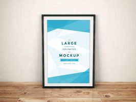 Freebie - Artwork Frame PSD Mockup by GraphBerry