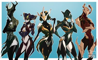 WARFRAME - Fabulous Frames [WIP] by ChickenDrawsDogs