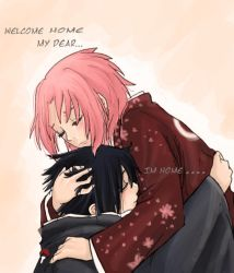 welcome home....sasusaku by Fey-Rayen