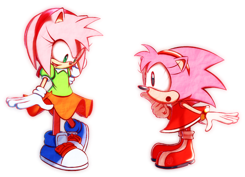 Amy Rose outfit swap by TheVoidful