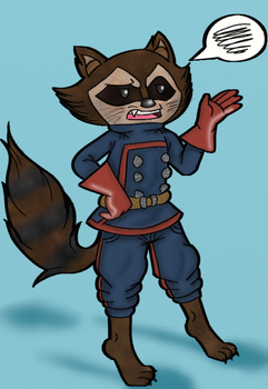 Rocket Racoon by sonicluver101