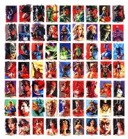 Justice League Sketchcards by felipemassafera