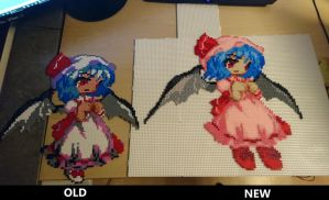 Remilia Scarlet (old vs. new) by MagicPearls