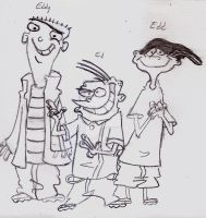 Ed Edd N Eddy's Main Characters by UnicronHound