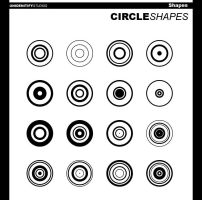 Circle Shapes I for Photoshop by UnidentifyStudios
