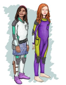 Character designs- Sharvali and Tru by Grumbleputty