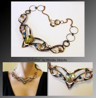 Cullodena- wire wrapped copper necklace by mea00