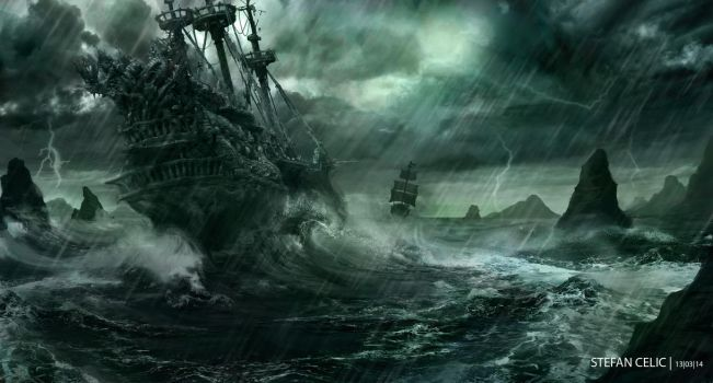 Flying Dutchman vs Black Pearl by StefanCelic