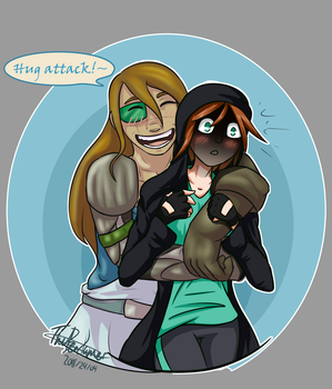 Coyo hugs [Collab Thingy] by Saragonvoid