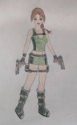 Lara Croft Underworld drawing by Badty92