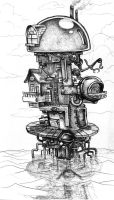 SteamPunk Ocean Apartment by Zinfer