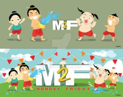 Songkran M2F character by Chapet