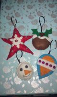 Christmas Decorations by VickitoriaEmbroidery