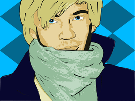 Pop Art of Famous Youtubers P1 - PewDiePie by ShadowedLove97