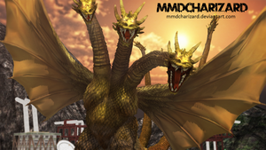 MMD Newcomer - PS3/PS4 King Ghidorah DL MOVED by MMDCharizard