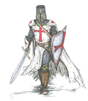 Templar Knight in Battle Dress by angelfire7508