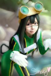 Tsuyu Asui~in the creek~ by Smokey-kat