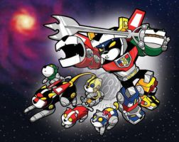 Voltron and Lion Cubs by Sideways8Studios