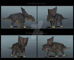 Chasmosaurus composite by PaleoGuy