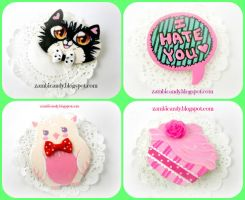 Brooches by zambicandy