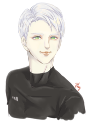 one smiling silver bishie by watanabe1