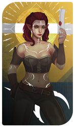 Dragon Age Tarot Card - Ylva by NewPlanComics