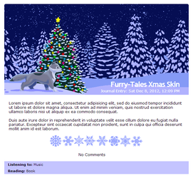 Furry-Tales Xmas journal skin by Stygma