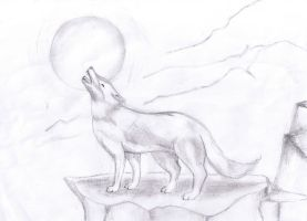 Howling Wolf Sketch by amy-cao