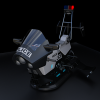 Police style Hover Bike by JGreenlees